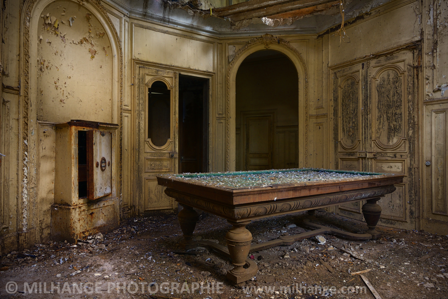 photo art chateau abandonne decay abandoned libourne. Black Bedroom Furniture Sets. Home Design Ideas