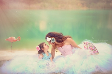 photographe-bordeaux-mère-fille-robe-lac-amour