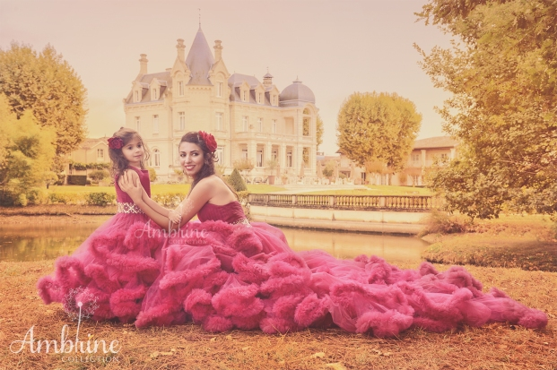 photo-robes-shooting-mere-fille-chateau-robes-andalouses-bordeaux